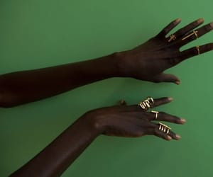 green, hands, and melanin image