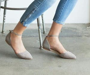 flats, gray, and shoes image