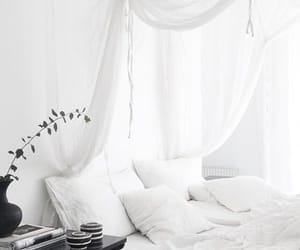 interior, white, and bedroom image