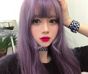 asian, ulzzang, and colored hair image