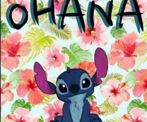 ohana, stitch, and wallpaper image