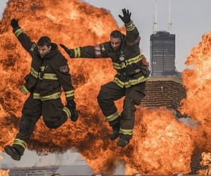 chicago fire, jesse spencer, and kelly severide image