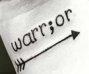 warrior, tattoo, and arrow image