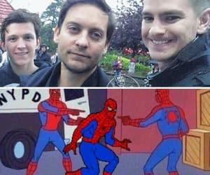 meme, spiderman, and tom holland image
