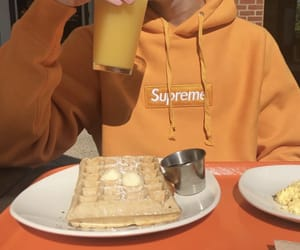 orange, supreme, and aesthetic image