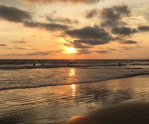 beach, Road Trip, and sunset image