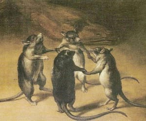art, pintura, and the dance of the rats image