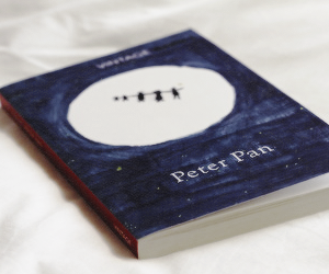peter pan, book, and blue image