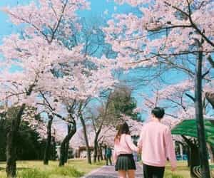 ulzzang, pink, and couple image