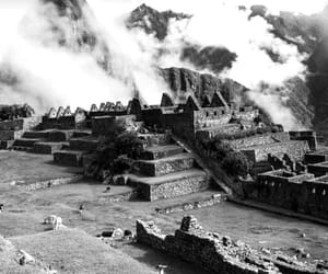 black and white, peru, and travel image