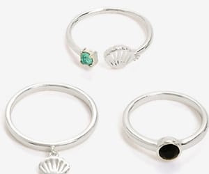 black, jewerly, and ring image