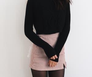 black, fashion, and mini skirt image