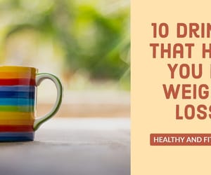 weight loss, drinks for weight loss, and healthy and fit world image