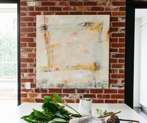 exposed brick, home decor, and interior decorating image