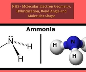 geometry of molecules, nh3, and ammonia gas image