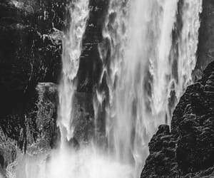 background, man, and waterfall image
