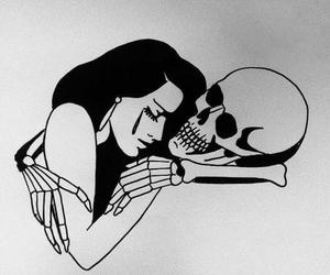 art, skull, and grunge image