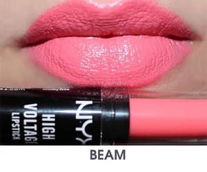 nyx high voltage lipstick and nyx eyeshadow palette image
