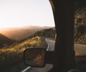 travel, nature, and road image