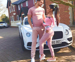 love, couple, and pink image