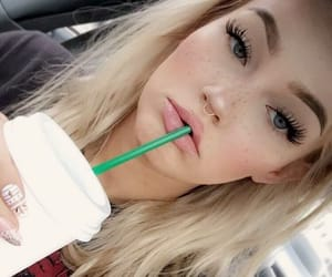 blonde, tumblr, and drink image