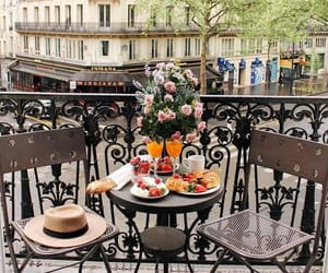 breakfast, paris, and travel image