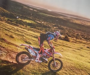 landscape, motocross, and motorcycle image