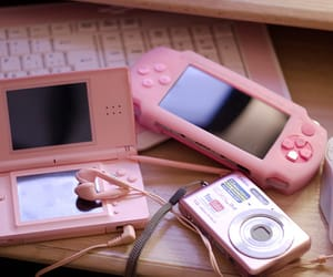 pink, camera, and nintendo image