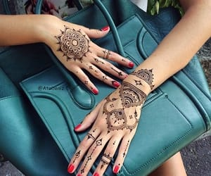 henna, bag, and hands image