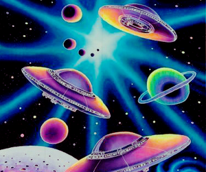space, alien, and ufo image