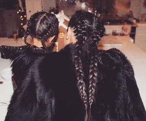 kim kardashian, north west, and hair image