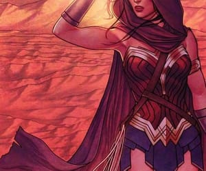 wonder woman, art, and comic image