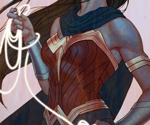wonder woman, DC, and comic image