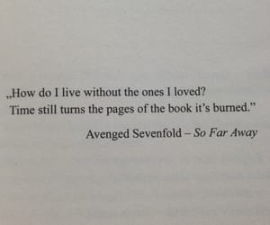 avenged sevenfold, book, and quotes image