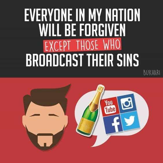 allah, social media, and repent image