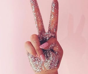 girly, glitter, and hands image
