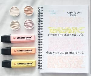 pastels, planner, and stationery image