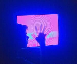 glow, grunge, and blue image