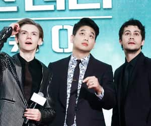 thomas sangster, dylan o'brien, and the maze runner image