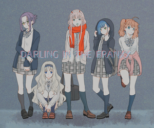 anime, darling in the franxx, and Ichigo image