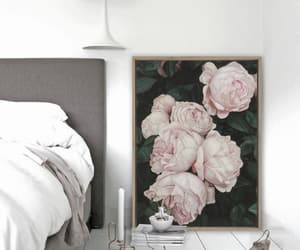 art, bedroom, and grey image