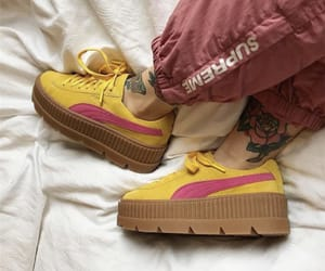 puma, shoes, and yellow image