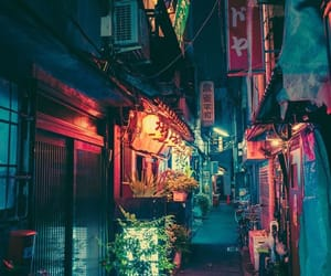 japan, night, and city image