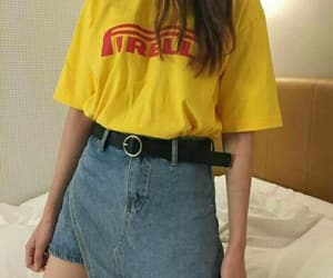outfit, yellow, and fashion image