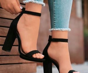 black and shoes heels image