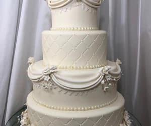 cake, wedding, and planing image