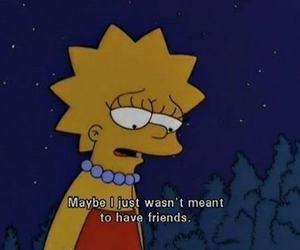 friends, sad, and simpsons image
