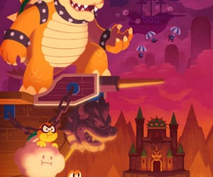 Bowser, game, and goomba image