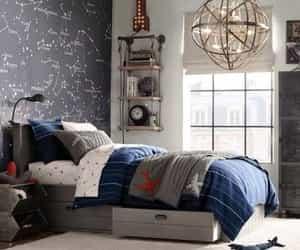 decoracion, dormitorio, and estrellas image