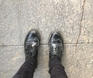 black, doc martens, and shoes image